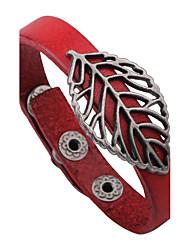 Муж. Жен. Кожаные браслеты Природа Винтаж Кожа Сплав В форме листа Бижутерия Назначение Повседневные На выход