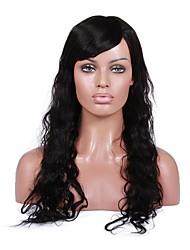 abordables -Cheveux Rémy Dentelle frontale Perruque Cheveux Brésiliens Bouclé Ondulation Naturelle Avec Mèches Avant 130% Densité Perruque