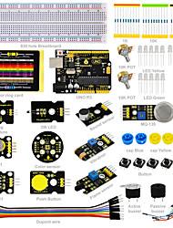 keyestudio sensor kit- k3 für arduino starter kit mit arduino uno r3dht11ds32313w ledcolor senson / 19 projekte