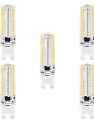 abordables -BRELONG® 5pcs 8 W 700 lm G9 / G4 Ampoules Maïs LED 152 Perles LED SMD 3014 Intensité Réglable Blanc Chaud / Blanc 220 V / 110 V