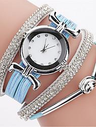 billige -Dame Armbåndsur / Simuleret Diamant Ur Kinesisk Imiteret Diamant PU Bånd Afslappet / Bohemisk / Mode Sort / Hvid / Blåt / Et år / SSUO LR626