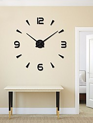 cheap -Casual / Modern / Contemporary Mixed Material / Alloy Round Indoor / Outdoor,AA Wall Clock