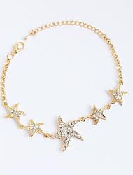 cheap -Women's Girls' Chain Bracelet Tennis Bracelet Rhinestone Personalized Rhinestone Alloy Star Jewelry For Birthday Gift Daily Casual