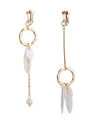 Per donna Orecchini spaiati Perle finte imitazione Opale Di tendenza Mancata corrispondenza Cina Lega Circolare Di forma geometrica