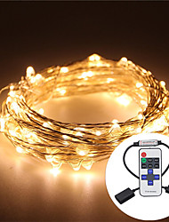 cheap -10M Waterproof 5V USB LED Light String Silver Copper LED Light String Cactus Wedding Party & RF Remote Control
