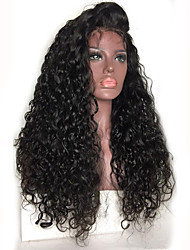 cheap -Kinky Curly Lace Front Wig Brazilian Human Hair Wigs 130% Density Natural Color Hair With Baby Hair For Women