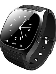 baratos -Smartwatch m26 bluetooth relógio inteligente com led alitmeter musicplayer pedômetro ios telefone inteligente Android