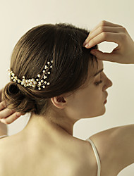 Imitation Pearl Rhinestone Hair Combs Flowers Hair Stick Headpiece