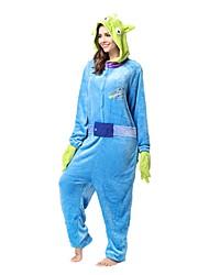 economico -Pigiama Kigurumi Porcellino/maialino Pigiama intero Pigiami Costume Flanella Vello Blu Cosplay Per Per adulto Pigiama a fantasia