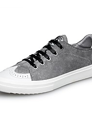 cheap -Men's Shoes Real Leather Pigskin Fall Winter Driving Shoes Formal Shoes Comfort Sneakers Lace-up For Casual Office & Career Gray Black