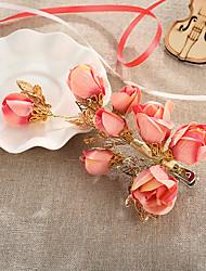 cheap -Rhinestone Fabric Alloy Flowers Hair Clip Hair Claws Headpiece
