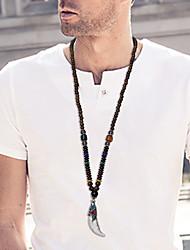 Homens Mulheres Colares com Pendentes ônix Forma Geométrica Prata Chapeada Moda Personalizado Jóias Para Diário