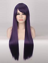 abordables -Mujer Pelucas sintéticas Sin Tapa Largo Liso Morado Peluca de cosplay Las pelucas del traje