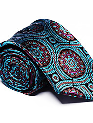 cheap -Men's Polyester Necktie,Vintage Party Work Casual Striped All Seasons Green Light Blue Royal Blue