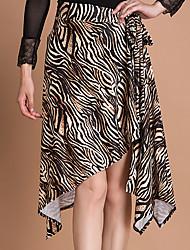 abordables -Baile de Salón Pantalones y Faldas Mujer Entrenamiento Seda Sintética 1 Pieza Cintura Media Faldas