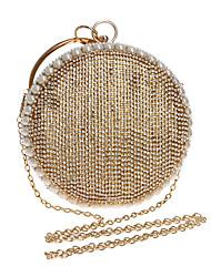Donna Sacchetti Per tutte le stagioni Poliestere Tote Dettagli con cristalli Dettagli con perline per Serata/evento Formale Blu Oro Nero