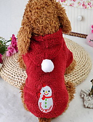 Gato Cachorro Macacão Roupas para Cães Natal Desenhos Animados Vermelho