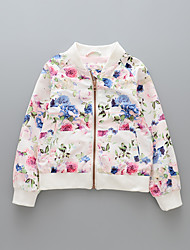 Girls' Print Suit & Blazer,Cotton Fall Long Sleeve