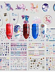 Недорогие -1 Стикер искусства ногтя С рисунком Наклейка для переноса воды 3-D Рождество Новый год Компоненты для самостоятельного изготовления Стикер