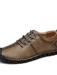 abordables -Homme Chaussures Cuir Automne / Hiver Confort Basket Marron / Kaki