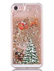 abordables -Para iPhone 8 iPhone 8 Plus Carcasa Funda Líquido Cubierta Trasera Funda Brillante Navidad Dura Policarbonato para Apple iPhone 8 Plus