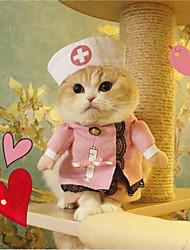 abordables -Gato Perro Disfraces Navidad Ropa para Perro Estrellas Blanco Azul Rosa Tejido Disfraz Para mascotas vaquero Cosplay Halloween