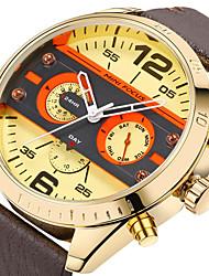 baratos -relógio de quartzo do esporte dos homens / relógio de pulso calendário japonês / data / dia / criativo / cool pulseira de couro genuíno luxo / casual