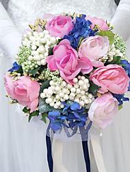 abordables -Fleurs de mariage Bouquets Mariage Polyester Env.25cm 25cm