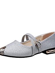 Недорогие -Для женщин Обувь Полиуретан Осень Удобная обувь Обувь на каблуках На плоской подошве Заостренный носок С металлическим носком Назначение