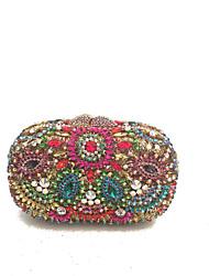 Недорогие -Жен. Мешки Металл Вечерняя сумочка Кристаллы для Свадьба / Для праздника / вечеринки Синий / Красный