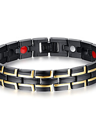 cheap -Men's Chain Bracelet / Bangles - Natural / Fashion Circle Black Bracelet For Gift / Daily / Men's