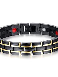 Homme Chaînes & Bracelets Bracelets Rigides Multi-pierre Naturel Mode Acier au titane Forme de Cercle Bijoux Bijoux Pour Quotidien