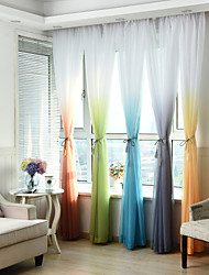 Rod Pocket Grommet Top Tab Top Double Pleat Pencil Pleat Curtain Print Striped Geometric Mixed Color Bedroom Material Sheer Curtains
