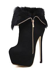 Women's Boots Basic Pump Comfort Novelty Spring Fall Winter Leatherette Wedding Casual Office & Career Party & Evening Dress Zipper
