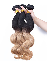 Ombre Hair Weaves Malaysian Texture Body Wave 12 Months Three-piece Suit hair weaves