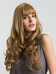 cheap -Synthetic Wig Wavy With Bangs With Bangs African American Wig Brown Women's Capless Natural Wigs Long Very Long Synthetic Hair