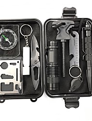 Survival Kit Casual Camping/Hiking/Caving Outdoor Portable Multi-function Stainless Steel Aluminum Alloy 1 pcs