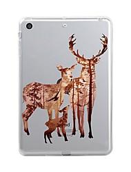 abordables -Coque Pour Apple iPad Mini 4 Mini iPad 3/2/1 iPad 4/3/2 iPad Air 2 iPad Air iPad (2017) Transparente Motif Coque Noël Flexible TPU pour
