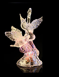 cheap -Color Changing Swan LED Light Up Figurine Party Home Holiday Decorations Night Light Lighted