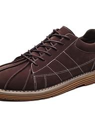 Da uomo Scarpe Cashmere Primavera Autunno Comoda Sneakers Lacci Per Casual Nero Grigio Marrone Borgogna