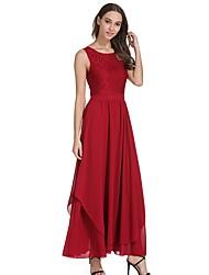 cheap -Women's Sheath Swing Dress - Solid, Lace Maxi