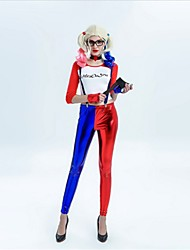 cheap -Harley Quinn Cosplay Costume Adults' Halloween Festival / Holiday Halloween Costumes Fashion Vintage