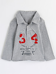cheap -Boys' Print Blouse,Cotton Fall Long Sleeve Gray