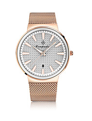 Men's Fashion Watch Casual Watch Chinese Quartz Large Dial Rose Gold Plated Alloy Band Charm Casual Silver