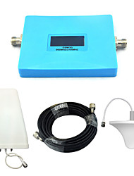 Intelligent Mobile Phone Signal Booster GSM 900mhz 2G W-CDMA 2100mhz 3G Signal Repeater with Ceiling Antenna / Log Periodic Antenna / Blue / Full Set