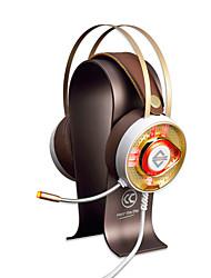 baratos -AJAZZ AX360Gold Bandana Com Fio Fones Dinâmico Aço Inoxidável Games Fone de ouvido Dual Drivers Isolamento de ruído Com Microfone Com