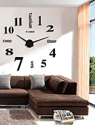 cheap -Retro / Modern / Contemporary Round Indoor / Outdoor,AA Wall Clock