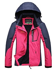 cheap -Women's Hiking Jacket Outdoor Winter Windproof Rain-Proof Breathability Top Full Length Visible Zipper Camping / Hiking Climbing Cycling