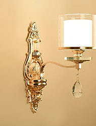 cheap -Ecolight™ Crystal Wall Lamps & Sconces Metal Wall Light 220-240V 40 W / E14
