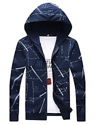 cheap -Men's Plus Size Hoodie Print Patchwork Hooded